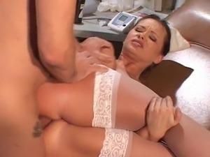 Ebony nurse sex