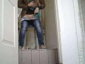 Public toilet masturbation