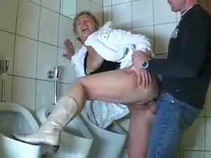 two sexy girls dancing in bathroom
