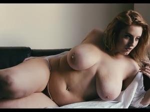 Big black natural breast