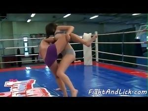 wrestle wife girlfriend