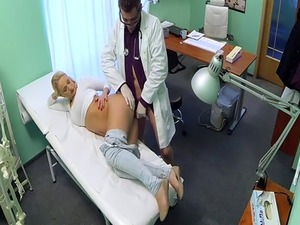 doctor checks naked pussy