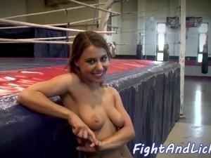 naked girl wrestling loser gets fucked