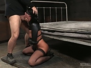 blonde girl takes it hard humiliated
