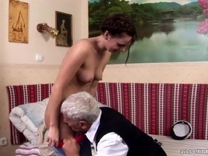 Old man young lady sex