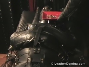 asian girl in leather bondage