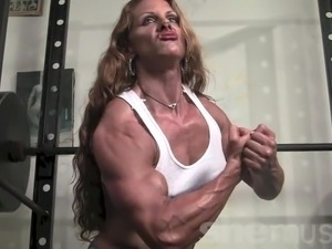 Nude muscle women tease
