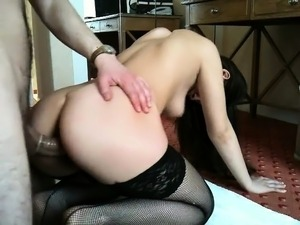 sexy brunette masturbating to orgasm