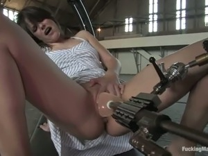 vibrating dildo in a pussy