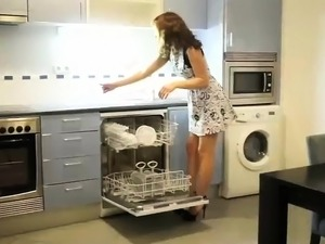 young teen sex in kitchen