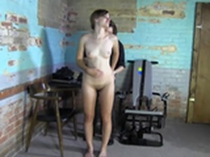 stripped Naked bdsm searched tortured