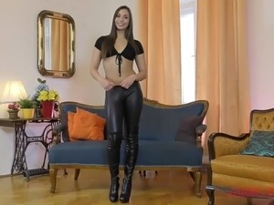 Chair naked pussy leather