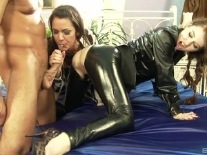girls naked sexy black leather