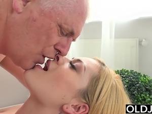 Old man cum shots
