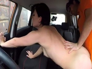 anal fuck in car