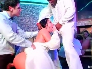 bride in weing night fuck video