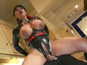 weird video giant latex breasts