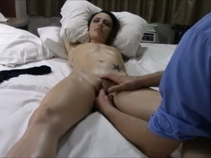 spread pussy showing clit