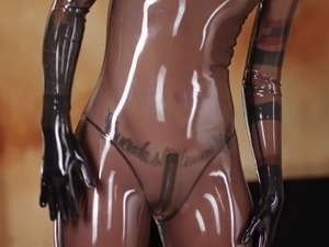 Sex porn latex masturbation