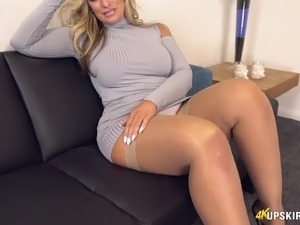 Upskirt stockings mature