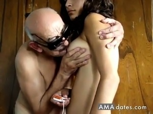 Porn girl with old man