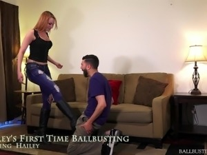 young girl ballbusting storie