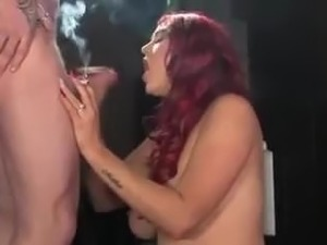 redhead threesome video