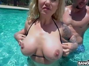 pool big porn party