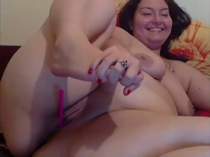 woman playing with pussy and dildos