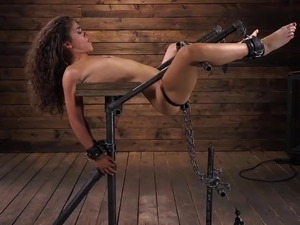 Stock locked bondage foot