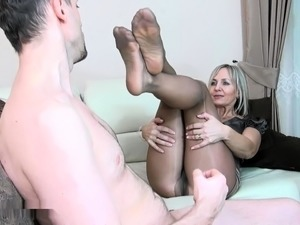 pantyhose sex nylon video couple both