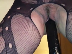 sexy blonde dildoing