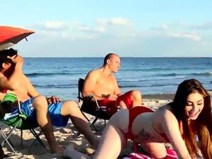 Nude girls on nude beach
